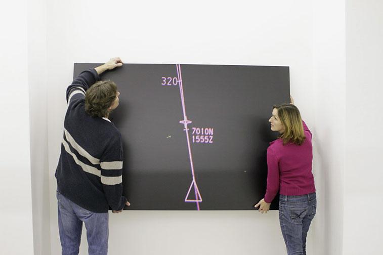 Hängung der Ausstellung von Christian Block